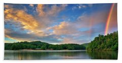 Rainbow At Linville Land Harbor Hand Towel by Steve Hurt