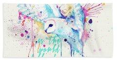 Rainbow Barn Owl Labyrinth Variant Hand Towel