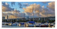 Bath Towel featuring the photograph Rainbow Bay Marina II by Gina Savage