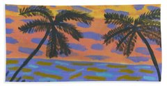 Bath Towel featuring the painting Rainbow Beach by Artists With Autism Inc