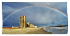 Hand Towel featuring the photograph Rainbow Beach by Kelly Reber