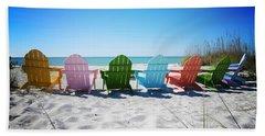 Rainbow Beach Vanilla Pop Hand Towel