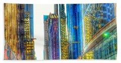 Rainbow Cityscape Bath Towel