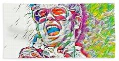 Rainbow Colors Elton John Hand Towel