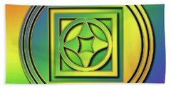 Hand Towel featuring the digital art Rainbow Design 4 by Chuck Staley