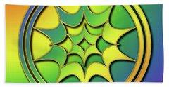 Hand Towel featuring the digital art Rainbow Design 5 by Chuck Staley