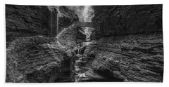 Rainbow Falls Bw Bath Towel