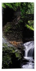 Bath Towel featuring the photograph Rainbow Falls by Edgars Erglis
