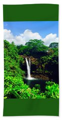 Rainbow Falls Hilo Hawaii Bath Towel