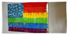 Rainbow Flag Bath Towel