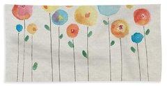 Rainbow Floral Bath Towel