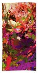 Rainbow Flower Rhapsody Purple Green Hand Towel
