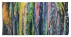 Bath Towel featuring the photograph Rainbow Forest by Ryan Manuel