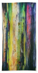Hand Towel featuring the photograph Rainbow Grove by Ryan Manuel