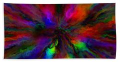 Rainbow Grunge Abstract Hand Towel