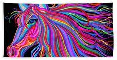 Rainbow Horse  Bath Towel