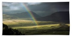 Rainbow In The Valley Hand Towel by Andrew Matwijec