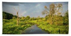 Rainbow Hand Towel by Jaroslaw Grudzinski