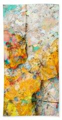 Rainbow Leaves Aqua Bath Towel