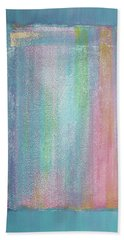 Hand Towel featuring the painting Rainbow Shower Of Light by Asha Carolyn Young