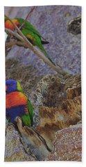 Rainbow Lorikeets Xiii Hand Towel by Cassandra Buckley