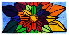 Rainbow Lotus Flower Bath Towel