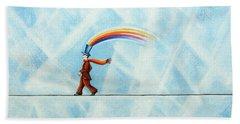Rainbow Man Hand Towel