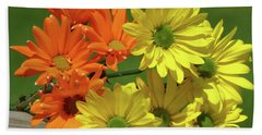 Rainbow Mums 4 Of 5 Hand Towel by Tina M Wenger