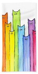 Rainbow Of Cats Bath Towel