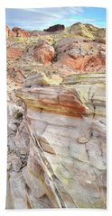 Rainbow Of Color At Valley Of Fire Bath Towel by Ray Mathis