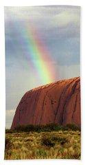 Rainbow On Uluru 2 Bath Towel