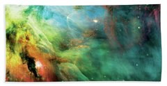 Rainbow Orion Nebula Bath Towel