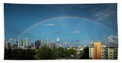 Rainbow Over Austin Hand Towel