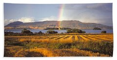 Hand Towel featuring the photograph Rainbow Over Loch Leven  by Phil Banks