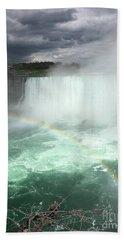 Rainbow Over Niagara Falls Bath Towel