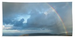 Rainbow Over Porlock Hill Hand Towel