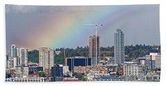 Rainbow Over Seattle Bath Towel