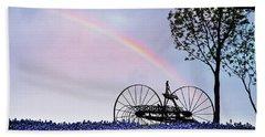 Rainbow Over Texas Bluebonnets Bath Towel