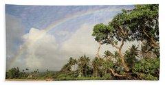 Rainbow Over The Beach Hand Towel