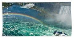 Rainbow Over The Falls Bath Towel