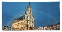 Rainbow Over Town Hall Gouda Bath Towel