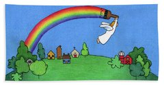 Rainbow Painter Hand Towel
