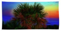 Bath Towel featuring the photograph Rainbow Palm by Patti Whitten