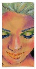 Rainbow Prayers Bath Towel by P J Lewis