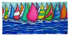 Rainbow Regatta Bath Towel