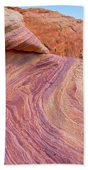 Rainbow Rocks Near Fire Canyon Bath Towel