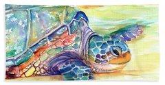 Rainbow Sea Turtle 2 Bath Towel