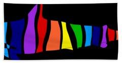 Rainbow Shark Bath Towel