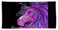 Rainbow Spotted Horse Head 2 Bath Towel