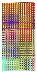 Hand Towel featuring the digital art Rainbow Squared Tapestry by Ann Johndro-Collins